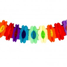 Гирлянда разноцветные цветы 3м