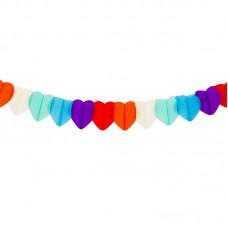 Гирлянда разноцветные сердца 2,5м