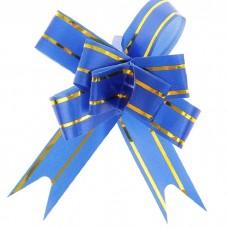 Бант Бабочка с золотой полосой Голубой