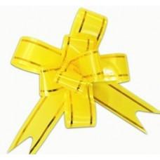 Бант Бабочка с золотой полосой Желтый