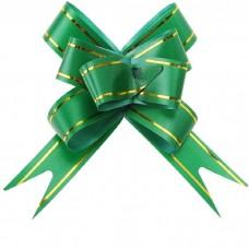 Бант Бабочка с золотой полосой Зеленый