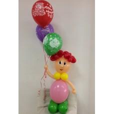 """Фигура из шаров """"Девочка с шарами"""