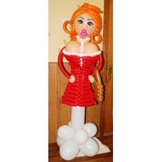 """Фигура из шаров """"Девушка-модель"""""""