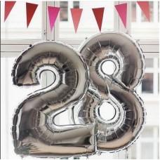 Фонтан из шаров с цифрой 28 (образец 5)