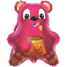 Шар (22''/56 см) Фигура, Медведь с мёдом, Фуше