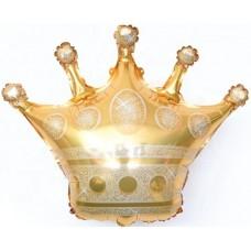 Шар (28''/71 см) Фигура, Корона, Золото