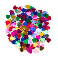 Конфетти маленькие сердечки ассорти 17гр.