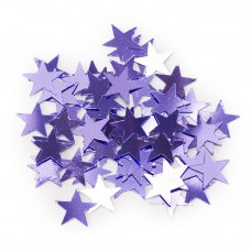 Конфетти звезды сиреневые 17гр.