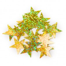 Конфетти звезды золото голография 17гр.