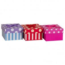 Коробка подарочная, Точки, 9*9*6см