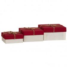 Коробка подарочная, бордовая