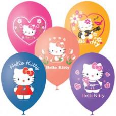 """Шар (12''/30 см) """" Кошечка Hello Kitty  """" 1 ст. цветной"""