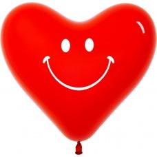 Сердце (12''/30 см) Смайл, Красный