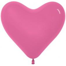 Сердце (6''/15 см) Фуше, пастель