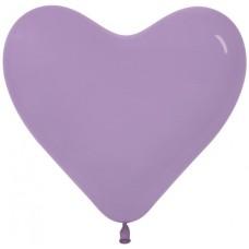 Сердце (6''/15 см) Сиреневый