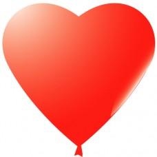 Сердце (10''/25 см) Красный, пастель