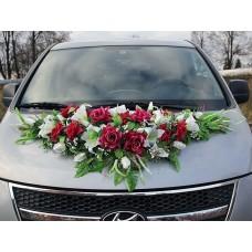 Цветы на капот авто №2