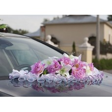 Цветы на капот авто №1