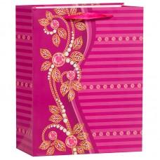 Пакет подарочный Бусинки, Фуше, 26*32*12 см