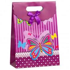 Пакет подарочный Бабочка, Фиолетовый