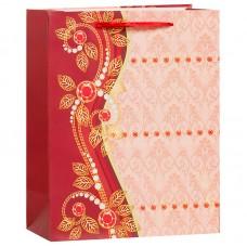 Пакет подарочный Бусинки, Красный, 26*32*12 см