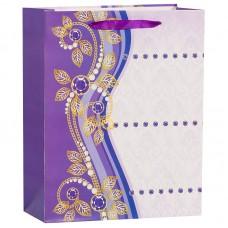 Пакет подарочный Бусинки, Фиолетовый, 26*32*12 см