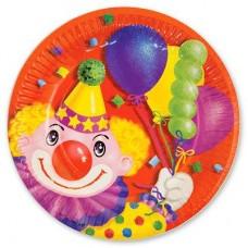 Тарелка Клоун с шарами 17см 6шт