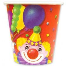 Стакан Клоун с шарами 190мл 6шт