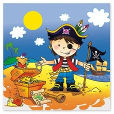 Салфетки Маленький пират, 12 штук