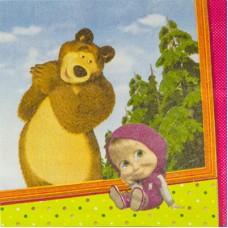 Салфетка Маша и Медведь
