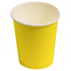 Стаканчики однотонные, желтый, 180мл, 6шт.