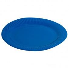 Тарелка однотонная, синий, 23 см, 6шт