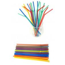 Трубочка д/коктейля d=5 мм разноцветные (50 шт./уп.)