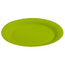 Тарелка однотонная, зеленый, 23 см, 6шт