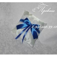 Подушечка для свадебных колец синяя