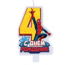 """Свеча в торт """"С днем рождения"""", цифра 3, Тачки"""