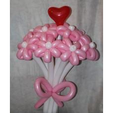 Букет из шаров с сердечком